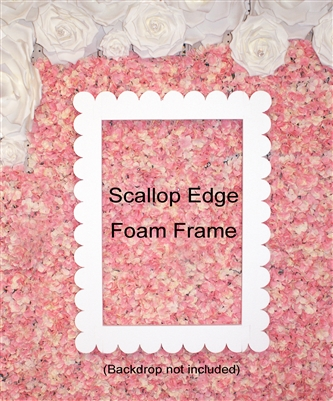 Jumbo Large Scallop Edge Foam Picture Frame Photo Booth